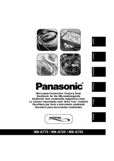 PANASONIC NN-A755 Microwave oven download manual for free