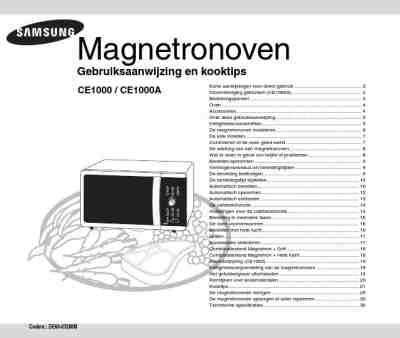 SAMSUNG CE1000A Microwave oven download manual for free