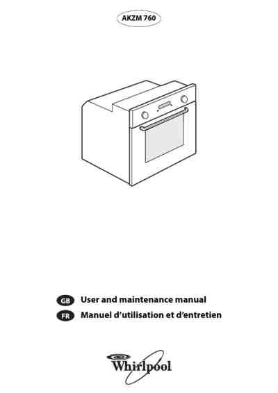 WHIRLPOOL AKZM 760 Oven download manual for free now