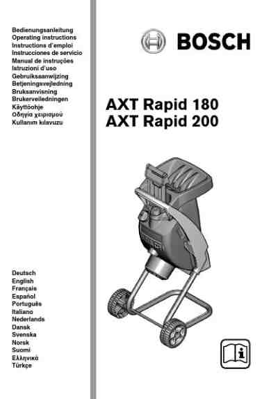 BOSCH AXT RAPID 180 Tools download manual for free now