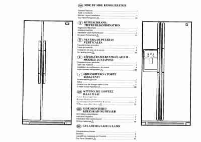 AEG S7085KG Fridge/ Refrigerator download manual for free