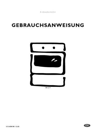 ELECTROLUX EBL2.4SW Oven download manual for free now