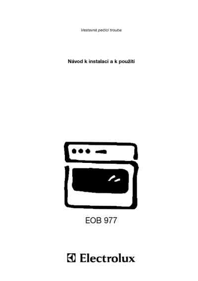 ELECTROLUX EOB 977 K Oven download manual for free now