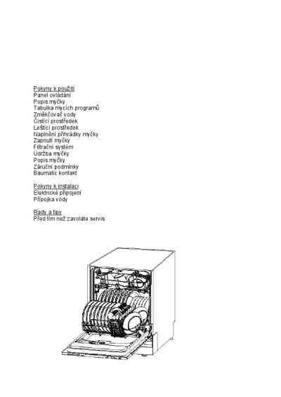 BAUMATIC BDW 15 Dishwasher download manual for free now
