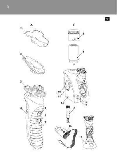 PHILIPS HS 8060 Electric shaver/ Razor download manual for