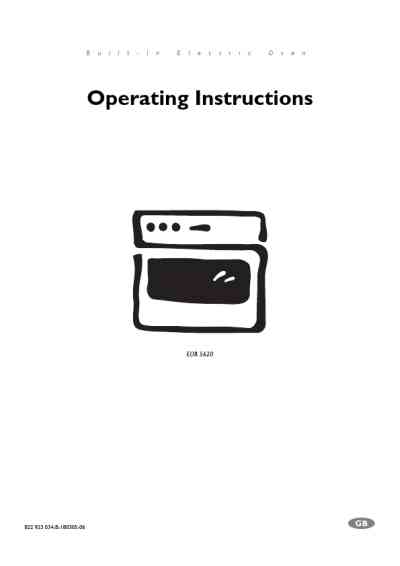 ELECTROLUX EOB5620XELUXNOR Oven download manual for free