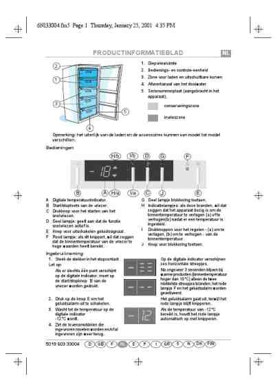 BAUKNECHT GKEA 2000 Fridge/ Refrigerator download manual