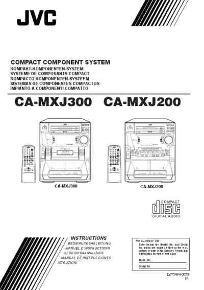 JVC MX J 300 HiFi system download manual for free now