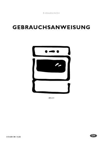 ELECTROLUX EBL4.4SW Oven download manual for free now
