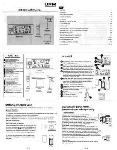 UPM WS2029 Weather stations download manual for free now