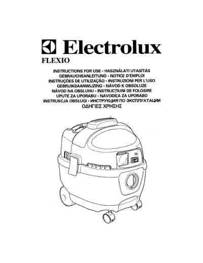 ELECTROLUX Z833 Vacuum cleaner download manual for free