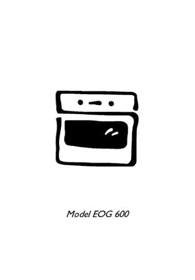 ELECTROLUX EOG600BN Oven download manual for free now