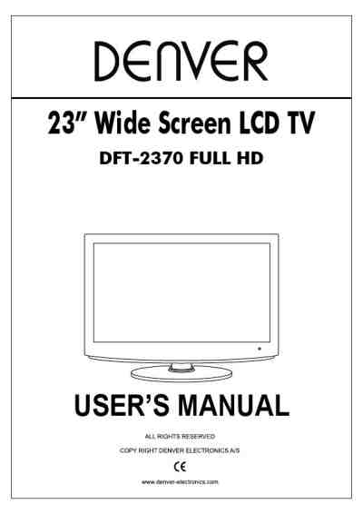DENVER DFT-2370 TV/ Television download manual for free