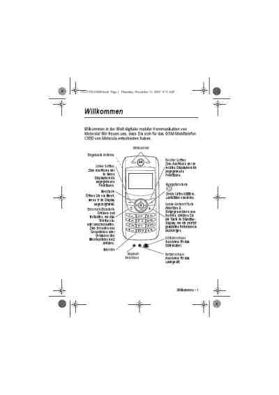 MOTOROLA C550 Mobile phone download manual for free now