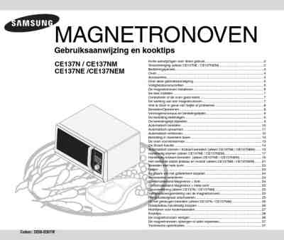 SAMSUNG C 137 NM X Microwave oven download manual for free