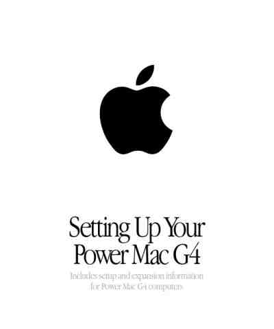 APPLE POWER MAC G4 Notebook download manual for free now