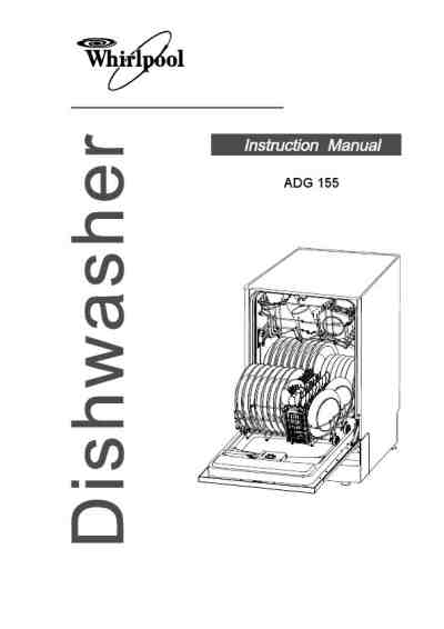 WHIRLPOOL ADG 155 Dishwasher download manual for free now