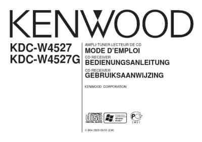 KENWOOD KDC-W4527G Car radio download manual for free now