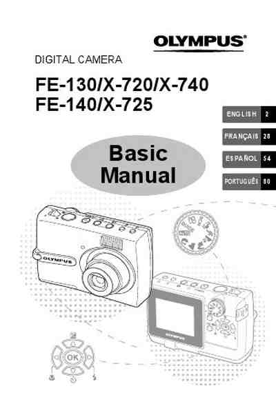 OLYMPUS FE-140 The camera/ Camera download manual for free