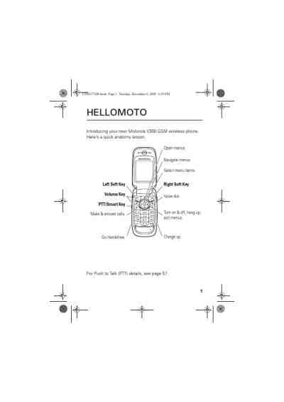 MOTOROLA T720I Mobile phone download manual for free now