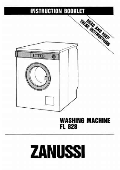 ZANUSSI FL828 Washing machine download manual for free now
