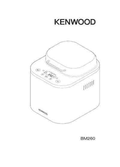 KENWOOD BM260 Bread baking machine download manual for