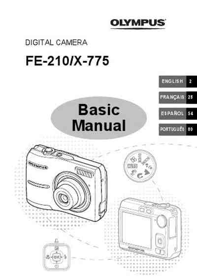 OLYMPUS FE-210 The camera/ Camera download manual for free