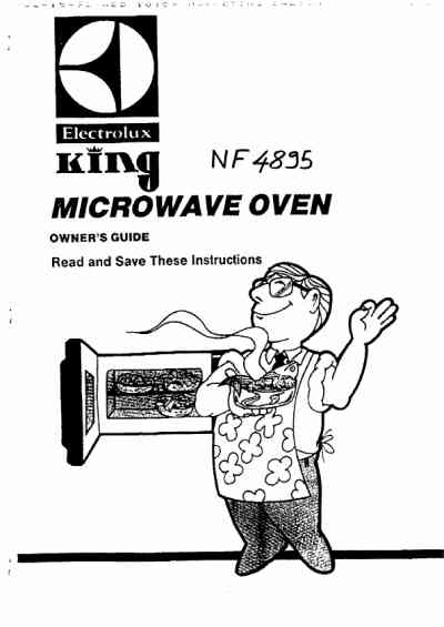ELECTROLUX NF4895 Microwave oven download manual for free