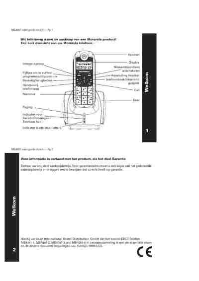 MOTOROLA ME4051 Mobile phone download manual for free now