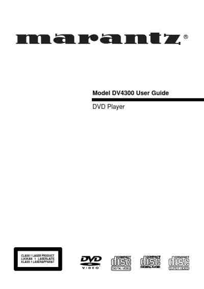 MARANTZ DV4360 DVD/ Blu-ray player download manual for