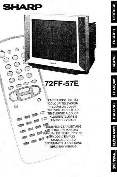SHARP 72FF57E TV/ Television download manual for free now