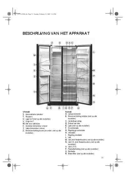WHIRLPOOL ENERGISK CFS 801 S Fridge/ Refrigerator download