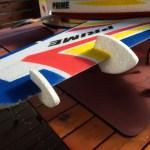 RC飛行機用ジャイロとウイングレット