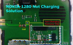 Nokia 1280 not charging problem solution ways track jumpers