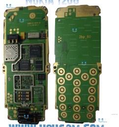 nokia 1208 1209 full pcb diagram mother board mobile repairing download high resolution diagram of nokia [ 2880 x 3384 Pixel ]