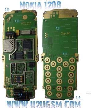 Nokia 1208 1209 Full PCB Diagram Mother Board