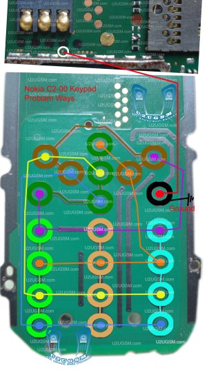 nokia C200 keypad not working problem solution jumpers