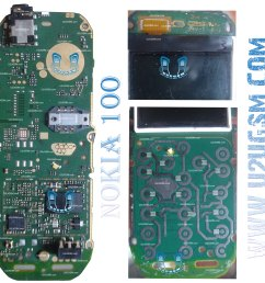 nokia 100 full pcb diagram mother board layout circuit diagram symbols nokia 114 pcb circuit diagram [ 3003 x 2958 Pixel ]
