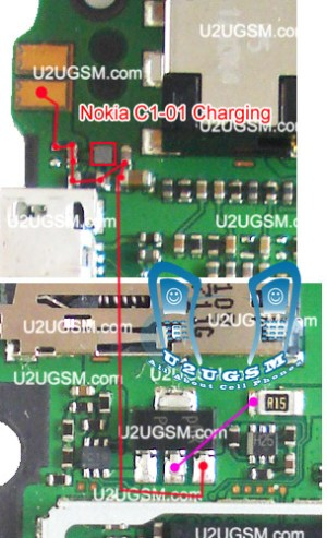 Online Mobile Repairing: Nokia C101 Not Charging Problem Solution Jumper Ways