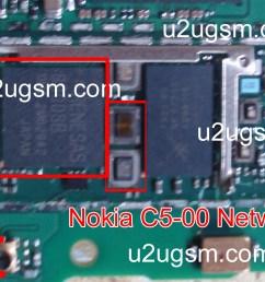 nokia c5 00 network ic solution jumper problem [ 1313 x 800 Pixel ]