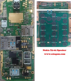 Nokia X202 Full PCB Diagram Mother Board Layout