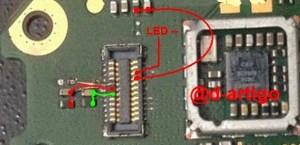 Nokia 208 LCD Display Light IC Solution Jumper Problem Ways