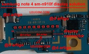Samsung Galaxy Note 4 LCD Display IC Solution Jumper