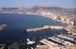 Calpe from the top of the Peñon de Ifach