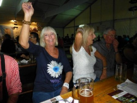 Solo Uno group at the Oktoberfest