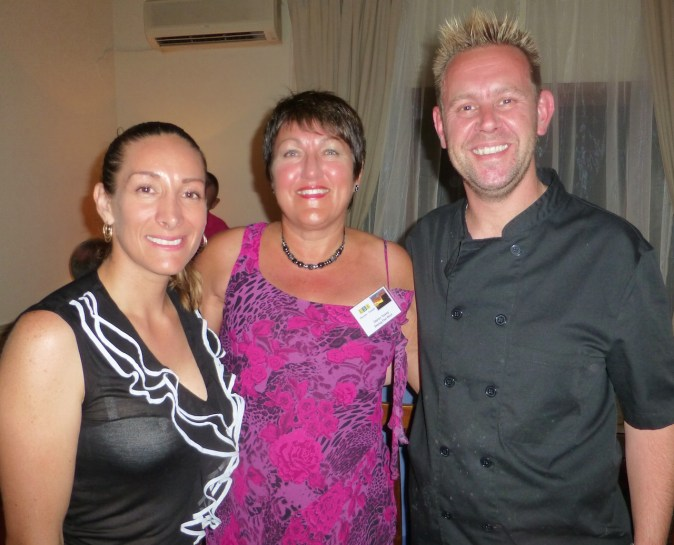 Our hosts and chef