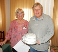 Presentations to members who won Christmas competitions organised by David & Eileen Haxon