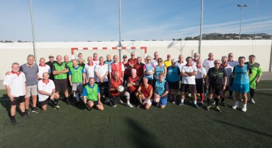 U3A Moraira-Teulada team and guests group photo before the match
