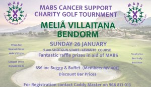 MABS Cancer Support Charity Golf Tournament @ Melia Villaitana