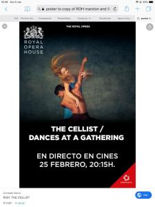 Royal Opera House Covent Garden live cinema - Ballet: The Cellist and Dances at a Gathering @ See text